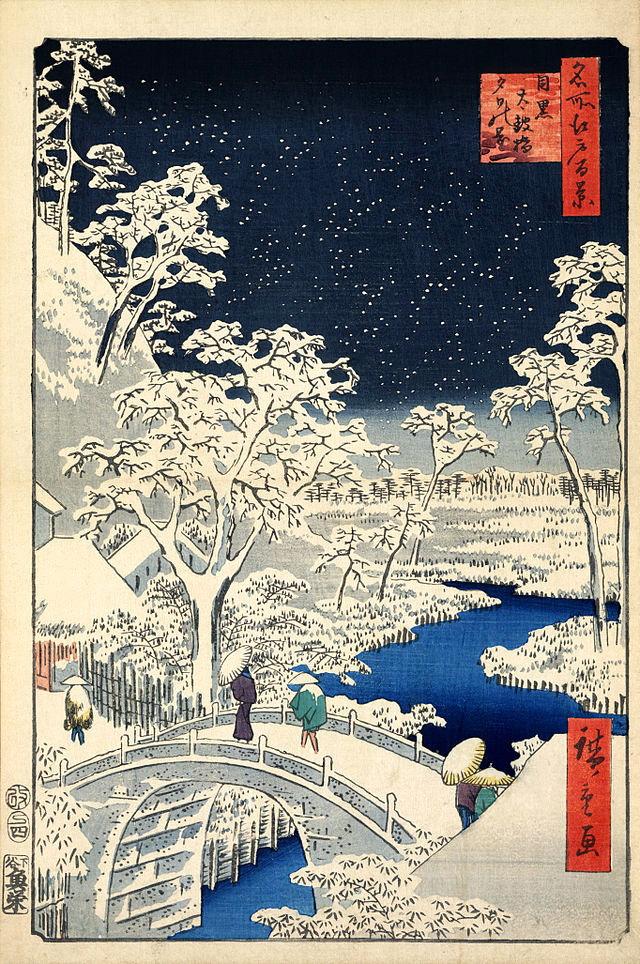 江戸時代の目黒太鼓橋