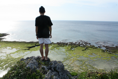 「沖ランs」崖っぷち:沖永良部観光: