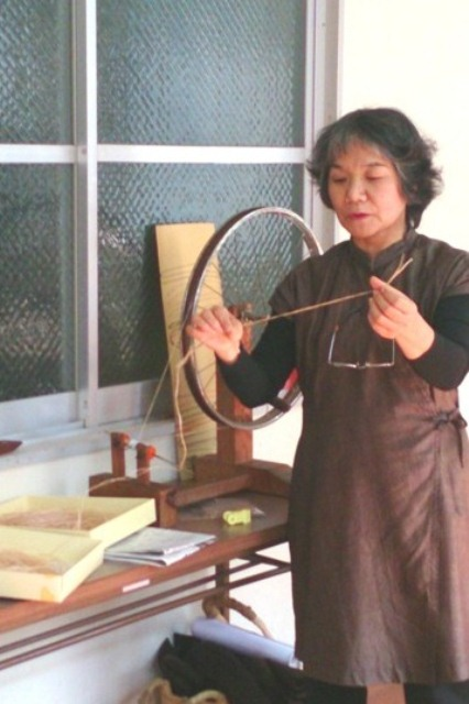 芭蕉糸織り④