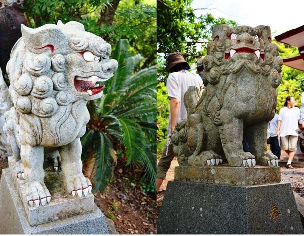 6厳島神社 狛犬