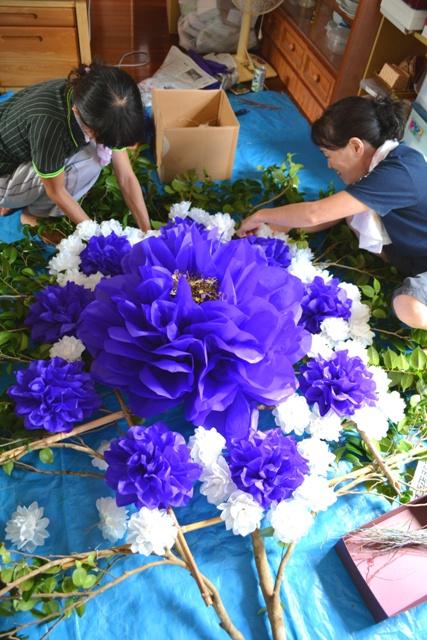 14金久 お花製作