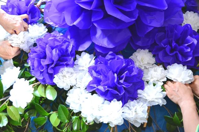 15金久 お花製作